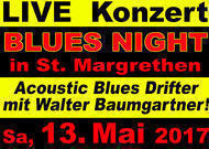 Blues Livekonzert: Walter Baumgartner